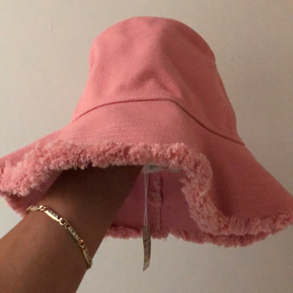550040175 Madewell Pink Canvas Bucket Hat NWT